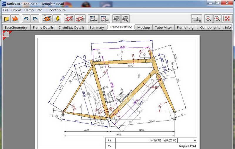 rattleCAD(自行车设计图纸软件)