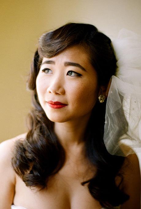 盘点20款最适合头纱的新娘发型图片