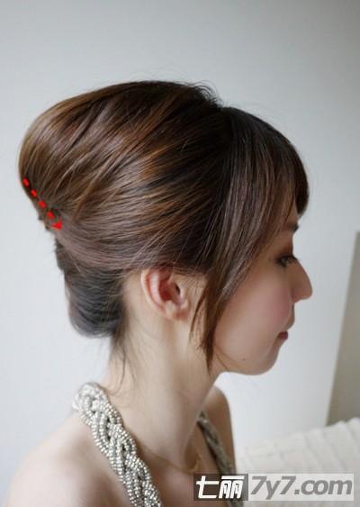 韩式派对低盘发方法步骤图解