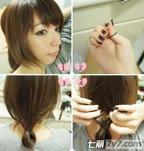 中长发变成波波头发型的扎法 打造复古英伦风女生