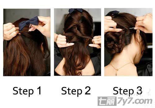 长中短三种编发步骤 一分钟就改头换面-短发发型