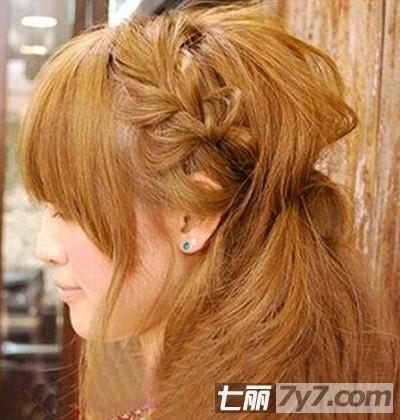 韩式简单发型扎法 2款公主范长发编发教程