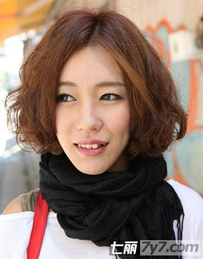 2013最新韩式短发蛋卷头发型 减龄卖萌时尚过冬
