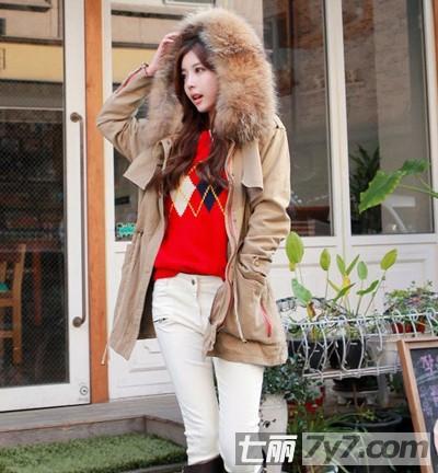 韩国嫩模道晖芝冬季服饰搭配