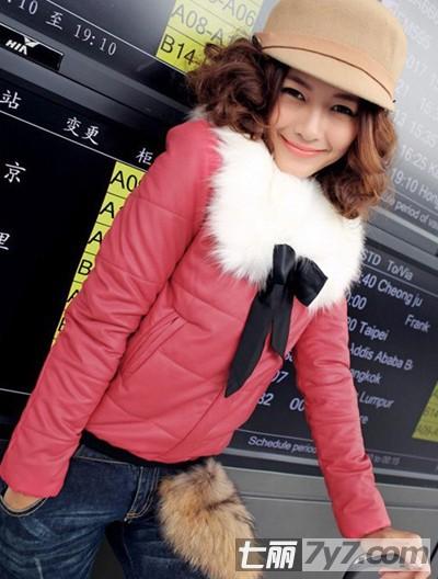 矮个子外套穿衣有女生长女技巧棉服混搭拉短款生按腿图片