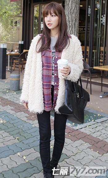 韩国女生冬季显高服装搭配技巧