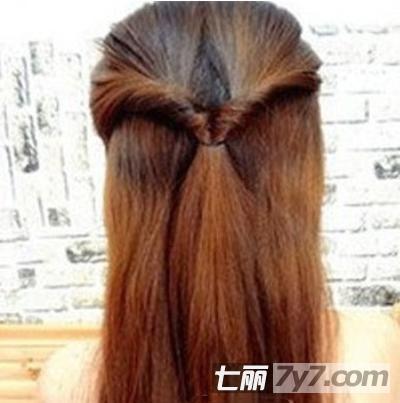 甜美淑女发型中长发扎法步骤