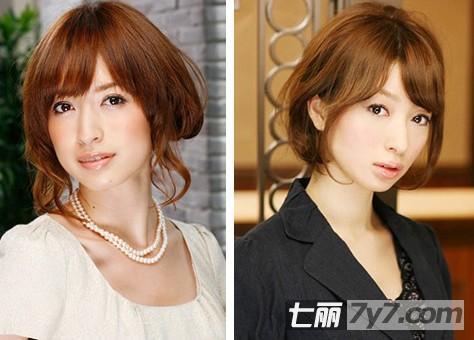 波波头短发发型的扎法 简单大方又不失甜美可爱