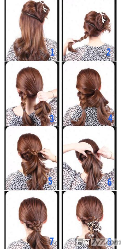 马尾扎法步骤图解 步骤1:先将头发梳顺