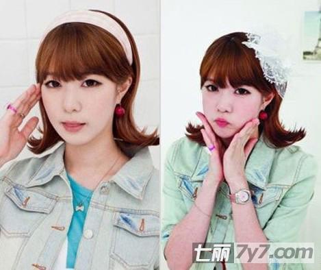 韩国女生萌系短发发型