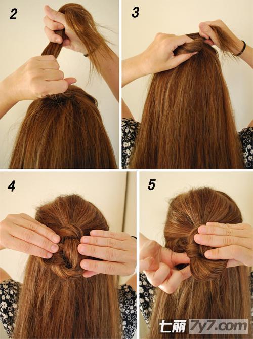 法国结半扎发发型 简单又不失精致的中长发扎发