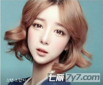 圆脸mm瘦脸短发发型图片 塑造完美小v脸超减龄