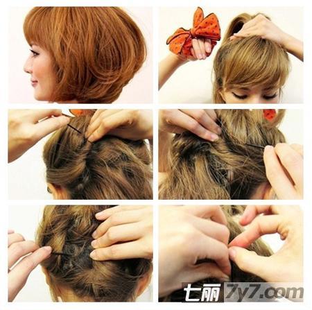 韩式短发发型扎法 小清新可爱甜美风