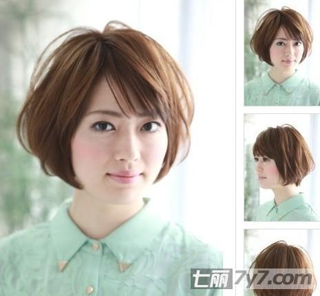 秋冬最新女生短发发型 圆脸尽显俏皮小清新魅力