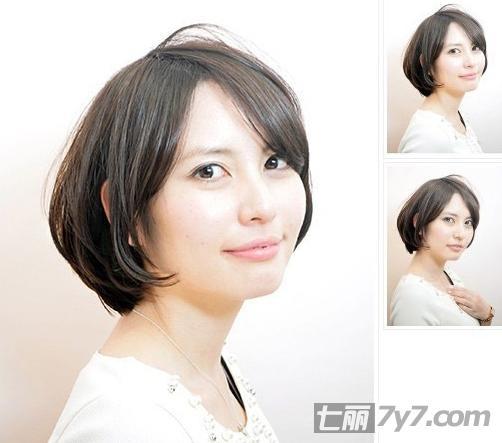 2016瘦脸短发发型图片图片