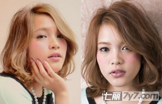 新日系女生流行发型 2014个性短发圆脸适合显瘦图片