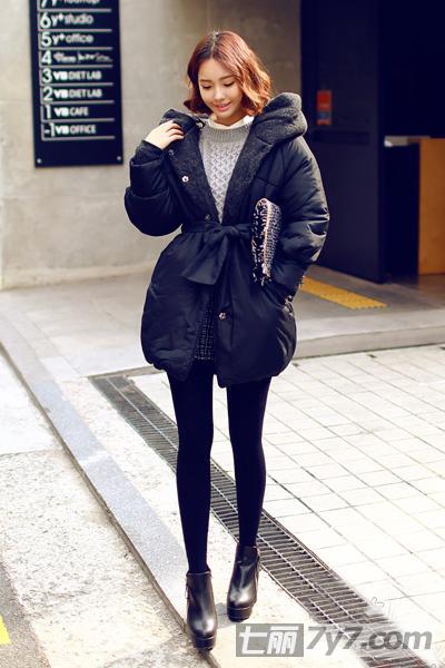 高个子胖女生冬天穿衣搭配