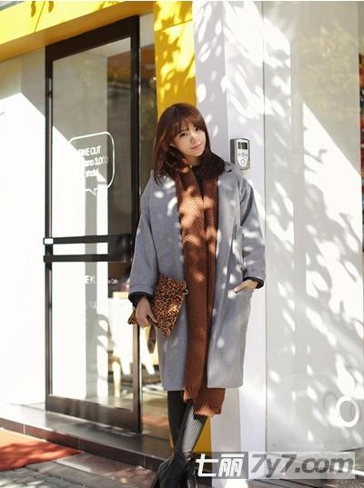 修身中长款呢子大衣 矮个子女生冬天显瘦穿衣搭配