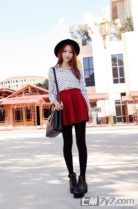 矮个子女生冬季穿衣服装搭配