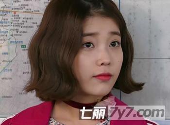 韩国短卷发发型 梨花头勾勒清爽娇颜-短发发型-美容