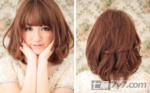 2014日系最新短发烫发发型
