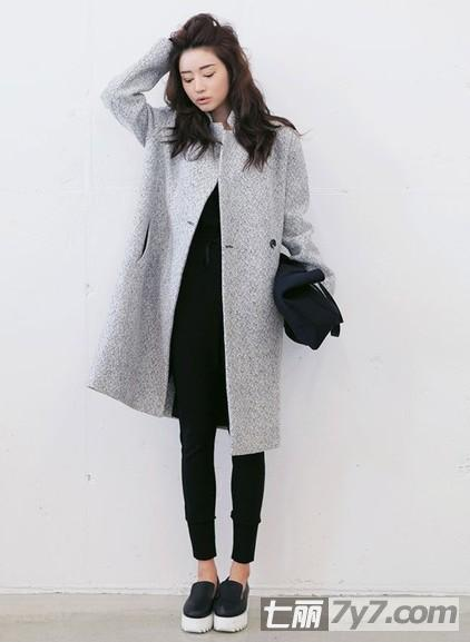 2014流行茧形大衣外套搭配