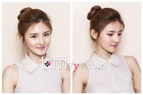 夏日长头发怎么扎好看 韩式丸子头的扎法图解