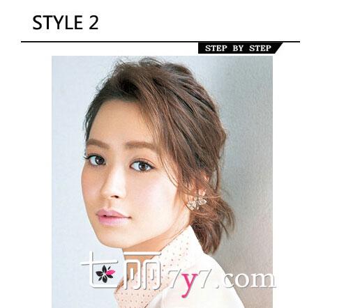 韩式短发发型编发图解 蓬松修颜造型又提升气质