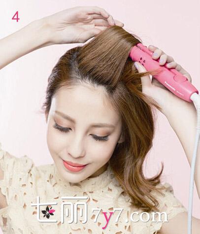 中长发烫发diy卷发器最快捷 简单打造清新复古发型