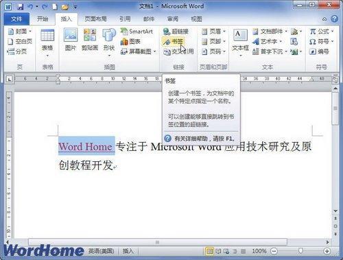 word2010-书签