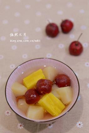 【山楂糖水糖水苹果】春节后的消食健身番薯减脂牛男减肥图片